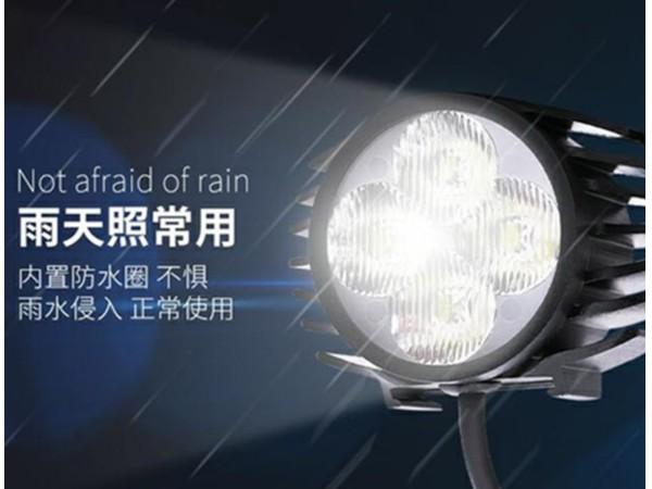 代驾电动车LED喇叭二合一大灯前照防水锂电车灯