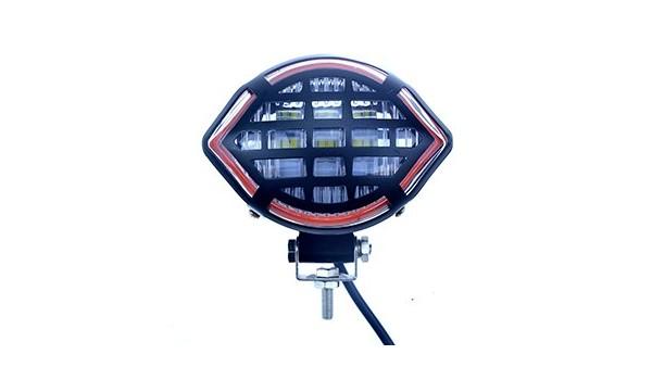 摩托车LED灯改装效果图,简直不要太酷